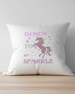 Born to sparkle scatter cushion