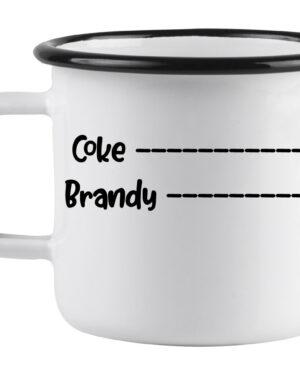 Brandy and coke enamel mug