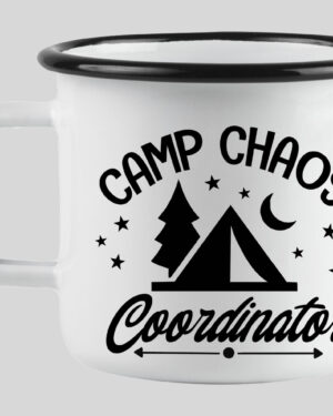 Camp chaos coordinator enamel mug