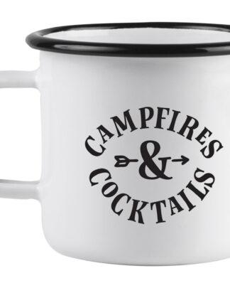 Campfires and cocktails enamel mug