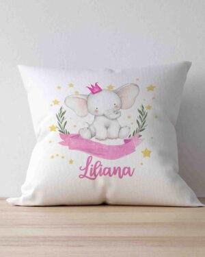 Baby name scatter cushion Girl