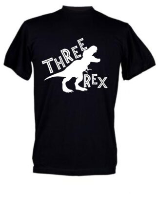 Three rex Kids Birthday shirt