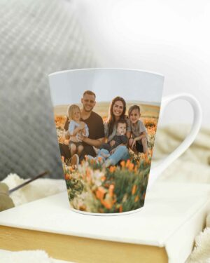 Cone Shape Latte coffee photo mug