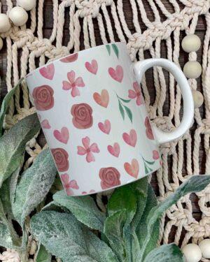 Pattern print coffee mugs