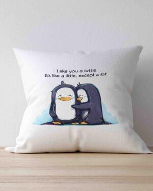 I Like you a lottle scatter cushion