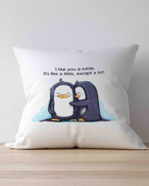 I Like you a lottle scatter cushion