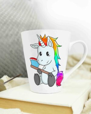 Psycho Unicorn Cone shape coffee mug