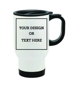 Travel mug White and black