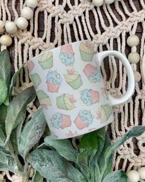 Unicorn elements cupcake mug