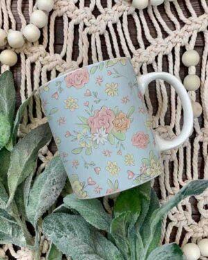 Unicorn flower element pattern coffee mug