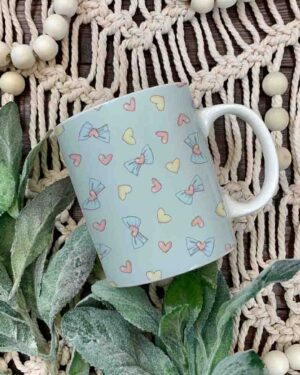 Unicorn heart elements pattern coffee mug