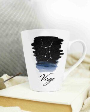 Cone shape star sign latte mugs Virgo