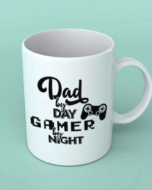 Dad by Day Gamer by night coffee mug