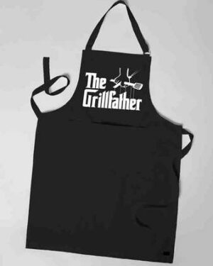 The Grill father Black apron